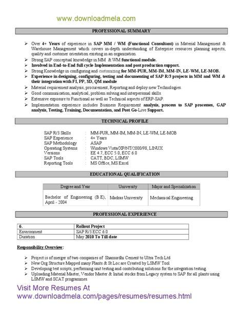 abap 3 years experience resume sap abap resume mind