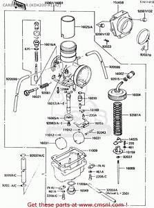 Kawasaki 1984 A2  Kdx200 Carburetor  Kdx200-a1  A2