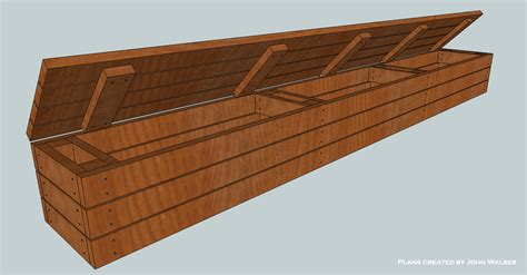 woodwork deck bench storage build pdf plans