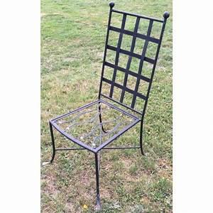 Chaise De Jardin En Fer : chaise de jardin en fer forg noir moinat sa antiquit s d coration ~ Teatrodelosmanantiales.com Idées de Décoration