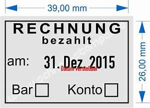 Radio Bezahlt Rechnung : buchungsstempel schnell stempel ~ Themetempest.com Abrechnung