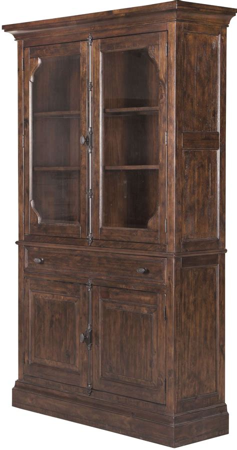 rustic curio cabinets st rustic pine curio china cabinet from magnussen