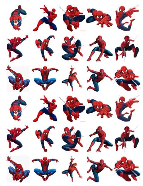 spiderman  birthday edible stand  cake toppers premium