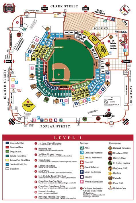 Bathroom Zone Map by Busch Stadium Gate Map Bathroom 2018