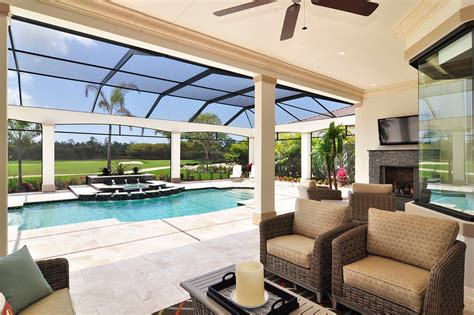 pool and covered patio designs modern outdoor