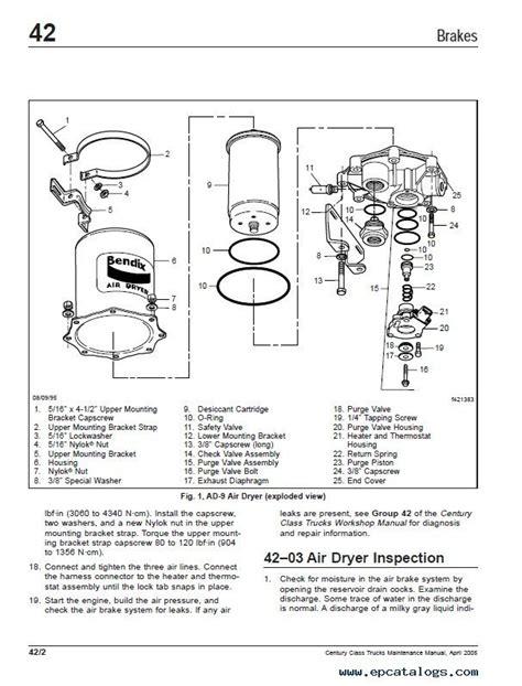 Freightliner Wiring Manual by Freightliner Century Class Trucks Maintenance Manual Pdf