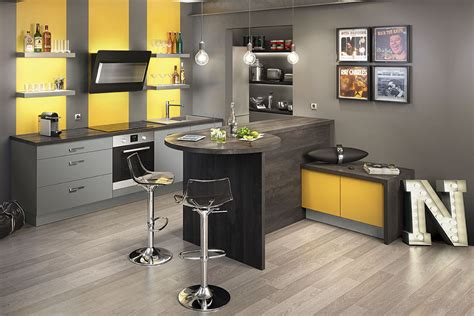 d 233 co cuisine jaune et gris