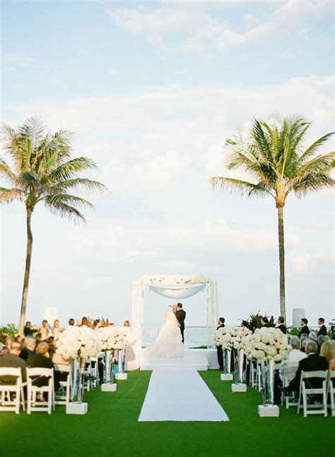 beachside wedding ceremony  palm beach fl