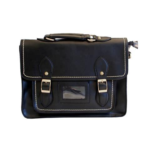 sac  main cartable vintage noir  boucles