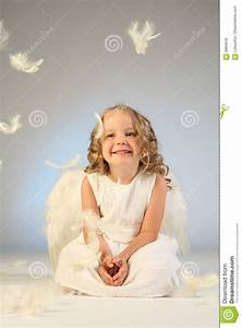 Angel Baby Design Little Girl Angel Portrait Royalty Free Stock Photos