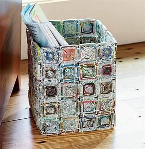 Upcycling Ideen Papier : aus zeitungspapier lassen sich verschiedene gebrauchsgegenst nde gestalten basteln basteln ~ Eleganceandgraceweddings.com Haus und Dekorationen