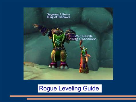 rogue leveling slideshare guide upcoming