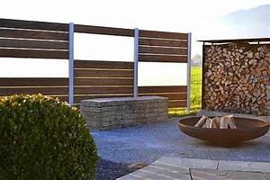 Trennwände Für Terrassen : sichtschutzsystem aluminium gals und holz thermoholz outdoor trennwand aus thermokiefer ~ Eleganceandgraceweddings.com Haus und Dekorationen