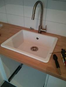 Arbeitsplatte Mit Integriertem Waschbecken : waschbecken k che ikea ~ Michelbontemps.com Haus und Dekorationen
