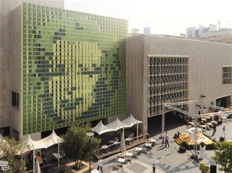 dynamic green art wall installation launched  building