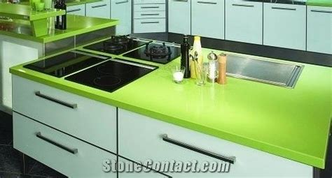 Green Quartz Stone Kitchen Countertop/engineered Stone