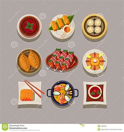 illustration cuisine food vector illustration stock vector image 54836937