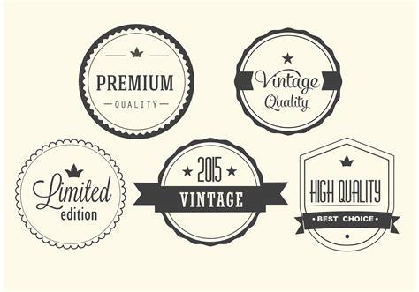 vintage vector label set   vector art