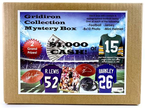 lot detail football gridiron collection mystery box