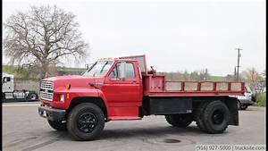 1993 Ford F700 Flatbed Dump Truck For Sale