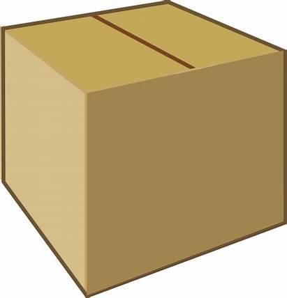 Box Cardboard Clip Closed Clipart Brown Vector