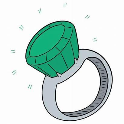 Ring Vector Finger Clip Clipart Illustrations Hand