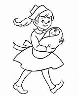 Nurse Coloring Pages Printable Baby Pre Nurses Drawing Clipart Printables Kindergartner Nursing Simple Activity Young Colouring Holding Hat Sheets Sheet sketch template