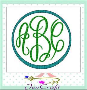Master Circle Monogram Font SVG