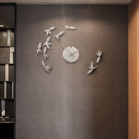 Product Of The Week Haoshi Goldfish Clock by Goldfish Wall Clock By Haoshi Design Monoqi
