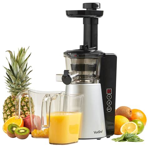 juicer slow machine masticating juicers vonshef digital blenders kitchen leafy greens speeds quiet reverse brush function cleaning ultra motor juicing
