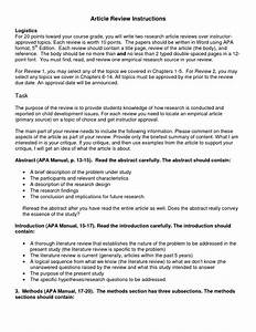 research synopsis template - research article review paper example