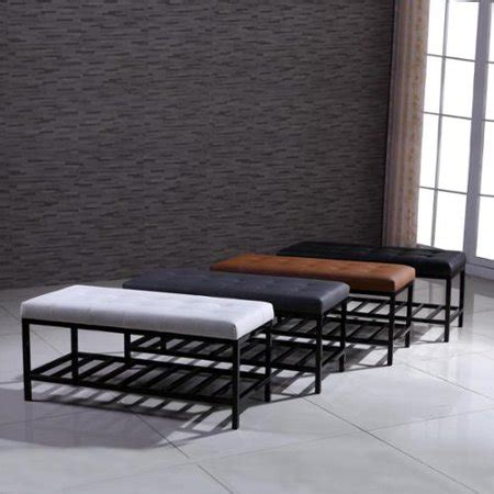 Tufted Signature Ottoman by Signature Designs Modern Metal Tufted Ottoman Bench Grey
