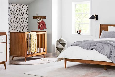 west elm crib this is seriously beautiful mid century baby room