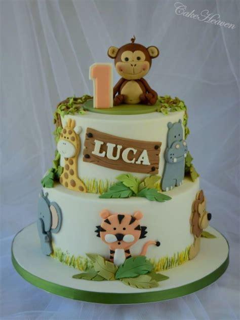 jungle cake st birthday   bolo tema safari