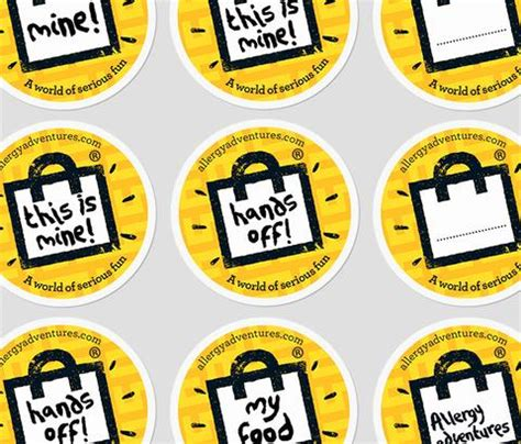 stickers protection cuisine 39 safe food 39 sticker pack allergy adventures allergy
