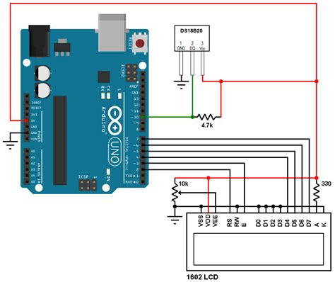 Digital Thermometer Using Arduino Dsb Sensor