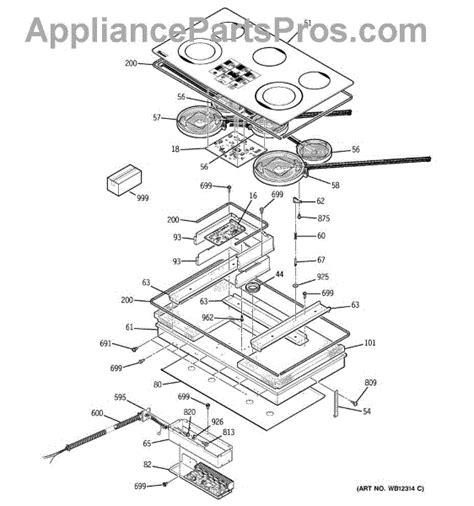 ge cooktop parts ge wb30t10067 element radiant asm appliancepartspros