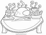 Thanksgiving Coloring Pages Birthday Dinner Parties sketch template