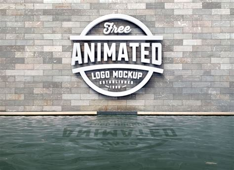 One fully layered psd file with. Free 3D Logo Animated Mockup PSD - Good Mockups