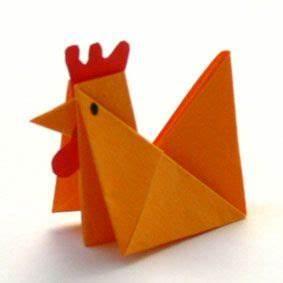 Origami Osterhase Faltanleitung Einfach : huhn hahn bastelidee origami ostern tiere falten und origami ~ Watch28wear.com Haus und Dekorationen