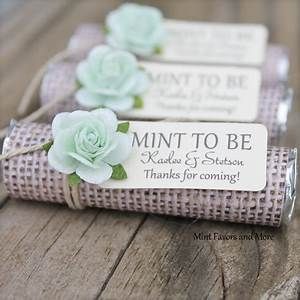 mint wedding favors set of 100 mint rolls mint to With wedding favors mint to be