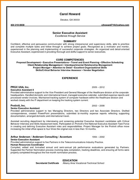 Executive Assistant Summary Of Qualifications Sle Resume summary for administrative assistant resume 28 images