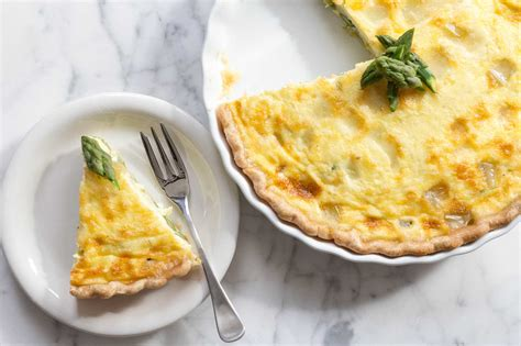 cheese recipes asparagus quiche with fontina cheese recipe simplyrecipes com