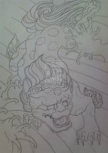 Foo Dog Tattoo Design by k-far on DeviantArt