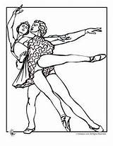 Dance Couple Coloring Dancing Ballet Pages Square sketch template