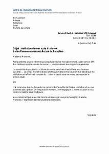 Résiliation Contrat Assurance Voiture : r siliation abonnement internet modele de courrier de resiliation assurance auto jaoloron ~ Gottalentnigeria.com Avis de Voitures