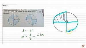 In The Diagram Is A Diameter Of Circle O If The Slope Of