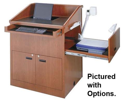 kitchen cabinets portable 36 quot wide multimedia wood veneer lectern 3178