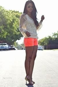 Neon Shorts on Pinterest
