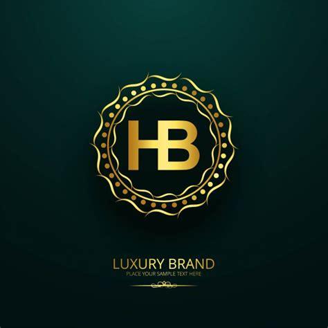 vector luxury brand letter hb design